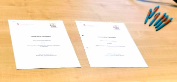 La convention signée par les autorités communales de Mertert et le MEGA.